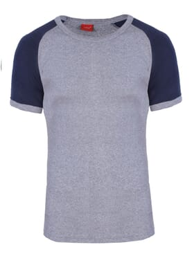 1-029 Grey Blue Body Size T-Shirt