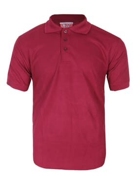 PLAIN POLO T-SHIRT WINE