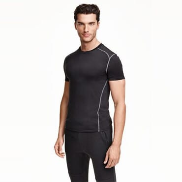 02801280 Mens Sports Top In Black