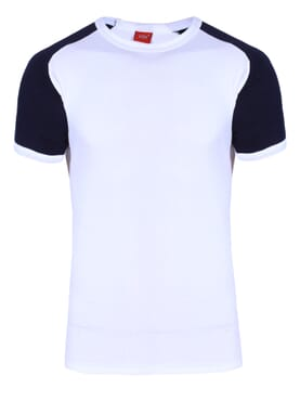 1-029 White Blue Body Size T-Shirt