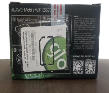 4G LTE Universal Glo Mobile WiFi Huawei E55735-606 for all networks