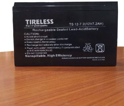 Tireless UPS BATTERY BACKUP TS 12 -7.2( 12V 7.2AH)REPLACEMENT