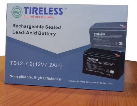 Tireless UPS BATTERY BACKUP TS 12 -7.2( 12V 7.2AH)REPLACEMENT