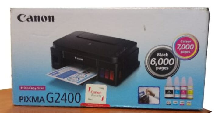 Canon PIXMA G2400 All In One Photo/Document Printer With Ink Tank