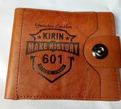Men's Foldable Leather wallet-Brown
