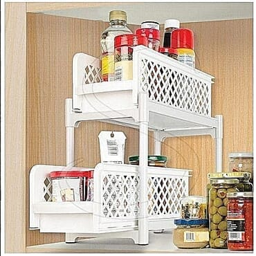 Generic Portable 2 Tier Basket Drawers For Kitchen, Office