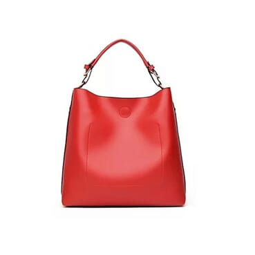 Fashion Classy Female Leather Handbag - Red
