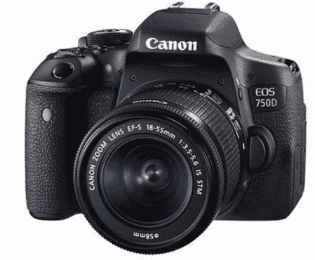Canon EOS 750D DSLR Camera With 18-55mm IS STM Lens Kit - Black