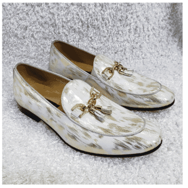 Designed Monk Tassel Loafer Shoe + A Free Happy Socks