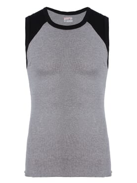 Banana Gym Vest Lite Grey T-Shirt M