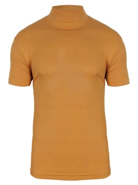 1-150 Yellow Turtle Neck short Sleeve T. Shirt