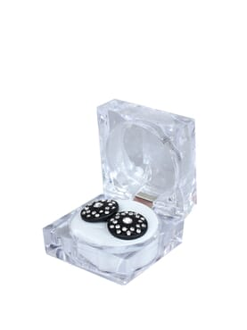 Black Stone Stainless Steel Cuff-links