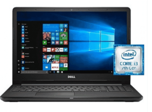 Dell Inspiron I3567 – 3636 Intel Core I3 Laptop 15 Inch 8 GB RAM 1 TB Hard Drive – Black