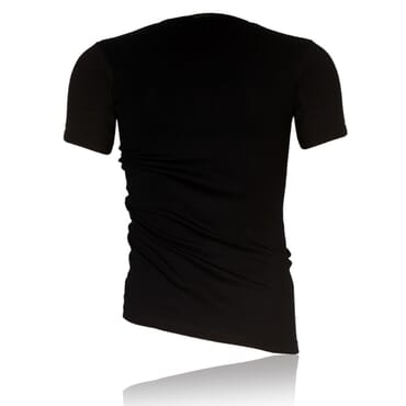 Police X.001 Extra Size Plain Black Short Sleeve O-Neck T-Shirt