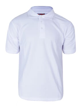 PLAIN POLO T-SHIRT WHITE