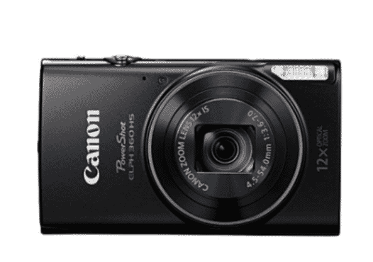 Canon PowerShot ELPH 190 IS With 10x Optical Zoom And Built-In Wi-Fi - Black