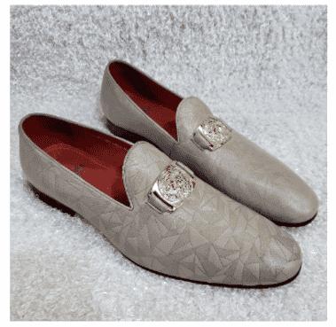 Exotic Designed Men's Loafer Shoe + A Free Happy Socks