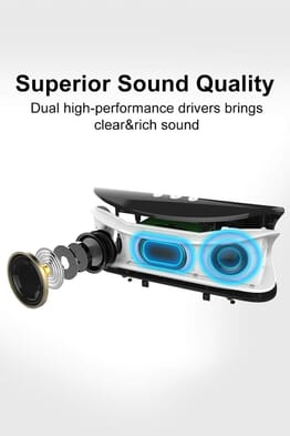 Generic Zealot S2 4000mAh Portable Dual Speakers TF Card Wireless Bluetooth Speaker Black