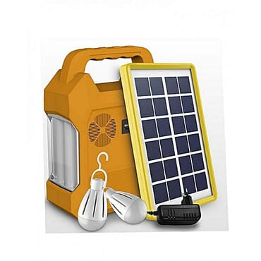 Saroda Solar Powered Lighting Kit USB Port And 3DC Jacks For 4V Bulbs