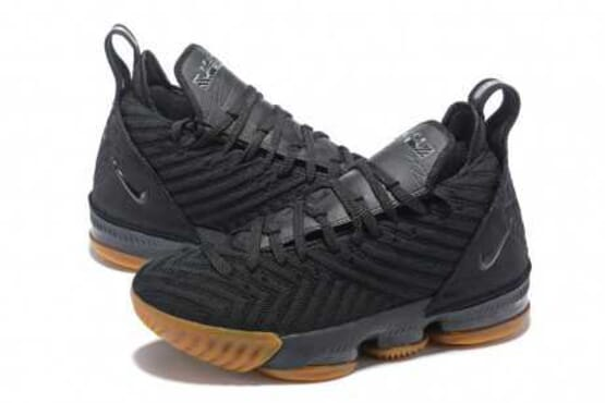NEW NIKE LEBRON 16 XVI BLACK GUM IN