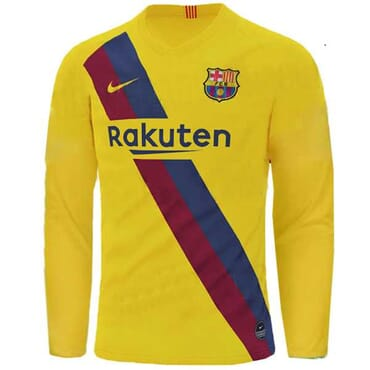 BARCELONA AWAY SHIRT LONG-SLEEVE