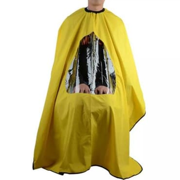 Waterproof See-through Hair Salon (barber/hairdresser) Cape