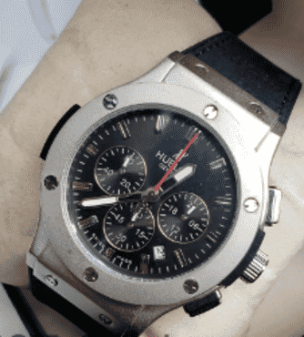 Hublot Silver Faced Chronograph Watch