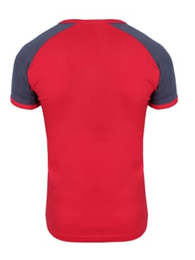 1-029 Red Grey Body Size T-Shirt