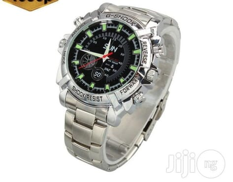New 1080p HD Night Vision DVR Camera Wristwatch 16GB - Silver