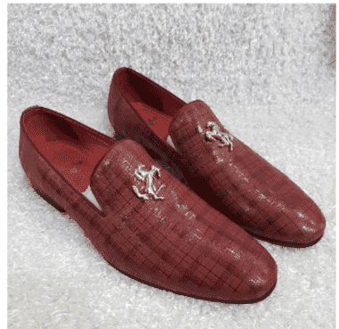 Red Ferrari Monk Loafer Shoe + A Free Happy Socks