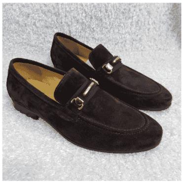 Brown Suede Fabi Loafer Shoe + A Free Happy Socks