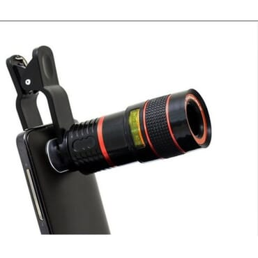 Universal Long Distance Range Monocular Smartphone Telescope 12x Zoom For Mobile Phone Camera Designed For Android, IPhone, Apple Devices