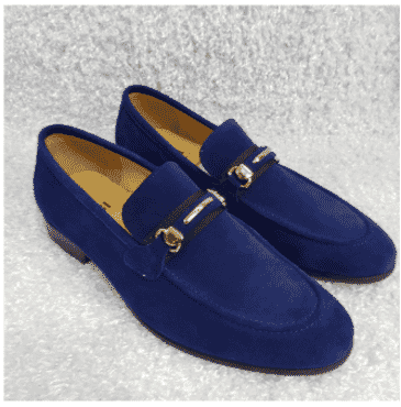 Blue Fabi Horsebit Loafer Shoe + A Free Happy Socks