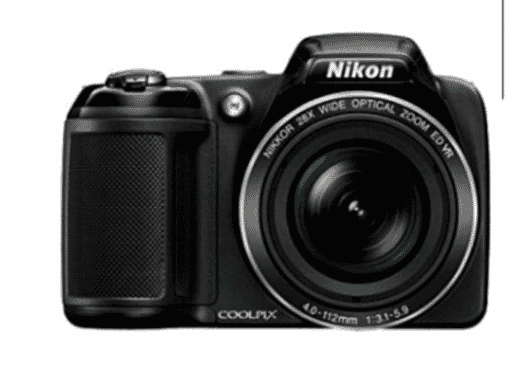 Nikon COOLPIX L340 20.2MP 28X Optical Zoom Compact Digital Camera - Black + Free 32GB SDHC Memory Card