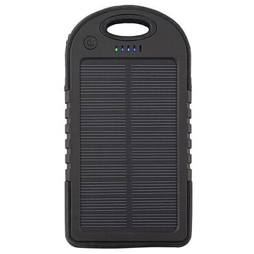Solar Solar Power Bank Charger 4000mAh - Black