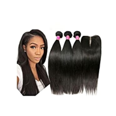 Straight Hair Wig- With Closure 14, 16, 18 inches