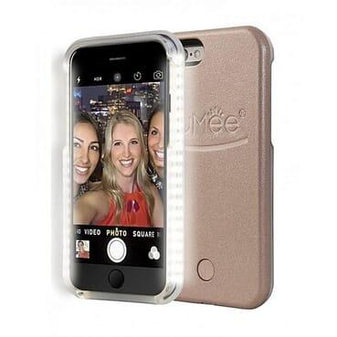 LuMee IPhone 6 Plus Selfie Light Case - Rose Gold