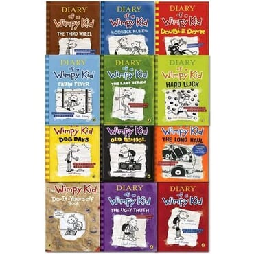 Diary of a wimpy kid series(12 books) paperback