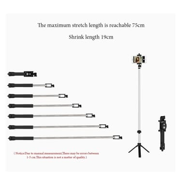 2018 New Bluetooth Remote Controller Hand-held Selfie Stick Tripod