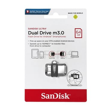 SanDisk 64GB Ultra OTG Dual USB Flash Drive