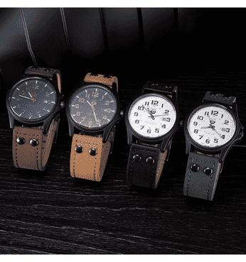 Quality Leather Men Wristwatch