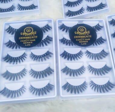 5D Mink eyelashes  - 5 pairs