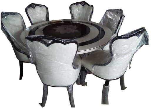 Exquisite Round Italian Dinning Set