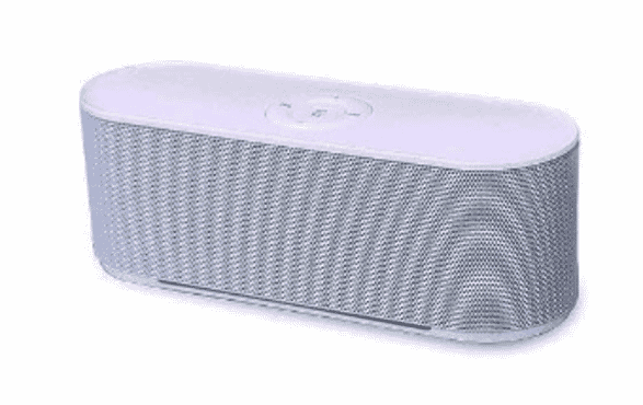 Mega Bass Portable Bluetooth Speaker S207 - White