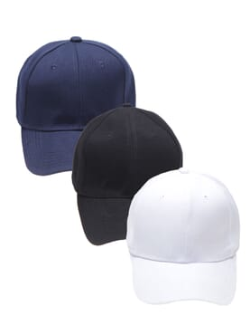 3 IN 1 COTTON FACE CAP NAVY BLUE/BLACK/WHITE