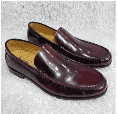Wine Shinny Men's Loafers + A Free Happy Socks