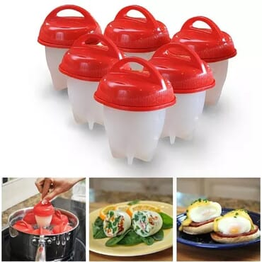 Egglettes Silicone Egg Cooker - 6pcs/set