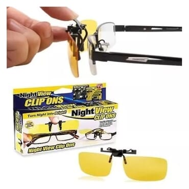 HD Anti-glare Night View NV Driving Clip On Glasses