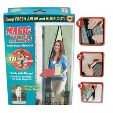 Magic Mesh Hands-free Magnetic Screen Door Cover