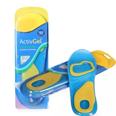 Soft Silicone Gel-activ Shock Absorption Foot Insoles